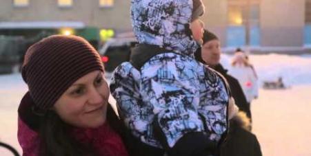 Embedded thumbnail for Новогодний детский праздник 2015, Мурманск